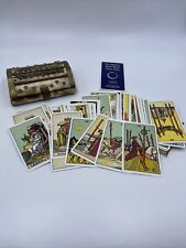 More details for vintage the original rider waite tarot cards used fortune telling with old box