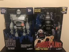 Iron Giant & Robby the Robot Walking Talking light up figures Walmart Exclusive