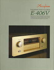 Accuphase e-406v catalogue prospectus catalogue Datasheet brochure
