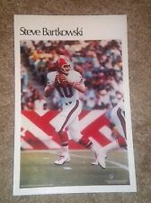 """Steve Bartkowsk (Mini Poster) # 28 of 50  NFL 1980 5.5"""" x 8.5""""  Thick Card Stock"""