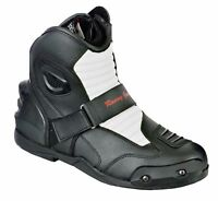 Waterproof Motorbike Short Ankle Leather Boot Motorcycle Racing Shoes Armored