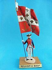 Porte drapeau ancien régime Guy Renaud - Régiment de Brest - Flag bearer