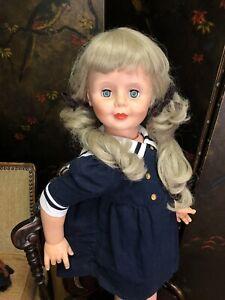 "Vintage Patti Playpal Type Clone 36"" Companion Doll  Sleep Eyes w/ Sailor Dress"