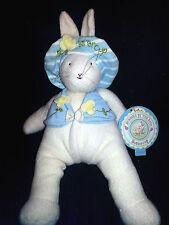 "Bunnies By The Bay Buttercup Rabbit NWT Hallmark Plush Lovey Bean Bag 13"" Toy"