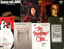 Theatre Programmes: Royal Shakespeare Co, National Theatre, Bristol Old Vic