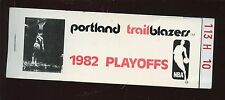 1982 Portland Trailblazers Playoff Ticket Book with 14 Full Tickets NRMT