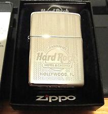 HARD ROCK SEMINOLE HOTEL & CASINO HOLLYWOOD FL USA CHROME ZIPPO LIGHTER