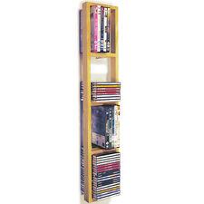 IRIS - Support Mural CD / DVD / Bleu ray Étagère Rangement - Naturelle CHW1039
