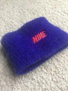 Vintage 90s Nike Sweatband Armband Purple Neon Pink Gray Tag Throwback Wristband