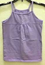 CIRCO Girls' Lilac Cotton Embellished Sleeveless Summer Top Blouse Sz Med (7-8)
