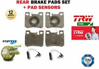 FOR MERCEDES 190 220CE 230CE C36 AMG C280 E220 E280 REAR BRAKE PADS SET + SENSOR