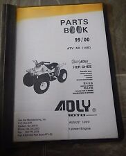 Used 1999 Parts Book 99/00 Atv 50 Ken Bar Adly Moto Her Chee High Power Engine