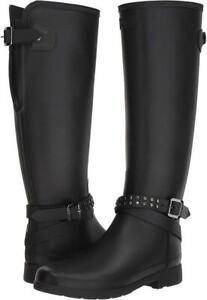 Hunter Women's Refined Adjustable Tall Studded Rain Boots