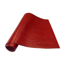 """Pre-Cut Red Cowhide Leather Project Piece 12"""" x 24"""" 3oz 1.2mm"""