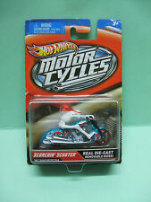 SCORCHIN SCOOTER Motorcycle Skeleton Rider squelette HOT WHEELS BLISTER US 1/64