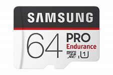 SAMSUNG Pro Endurance U1 100MB/s Read Flash Memory Card 64 GB Micro SD New sm