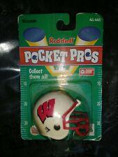 1997 Ncaa Riddell Pocket Pro Helmet - Nip - Wisconsin Badgers vintage new