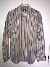 Paul & Shark Yachting Button Down Shirt MultiColor Striped Men's Medium Italy
