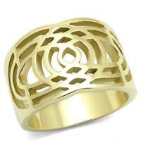 Women's Yellow Gold Plated Classy Fashion Ring No Stone 5 6 7 8 9 10 TK3119
