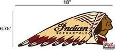 """(IND-2-R) 18"""" RIGHT INDIAN MOTORCYCLE WAR BONNET STICKER DECAL"""