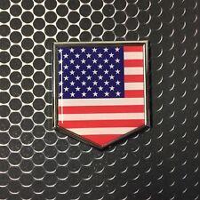 """USA America Flag Domed CHROME Emblem Proud Flag Car 3D Sticker 2""""x 2.25"""" Merica"""