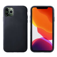 Handy Hülle Leder iPhone 11 12 Pro Max Case Leather Schutzhülle Cover Schutzglas