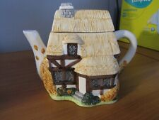 Straw Country Cottage House Teapot Made In Philippines