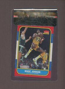 1986 Fleer Baskebtall #53 Magic Johnson Los Angeles Lakers HOF BGS 8.6 RCR