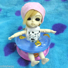 1/6 Bjd Dollfie Yo-SD Momoko Blythe Hujoo Doll Miniature Mini Swim Ring Blue