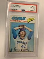 1977 Topps Bruce Sutter RCPSA 8 Rookie NM - MT Chicago Cubs