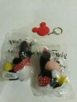 Kelloggs Disney mini bean Minnie Mouse plush lot 3 NOS sealed vintage keychain