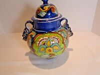 Mexican Pottery Jar With Lid