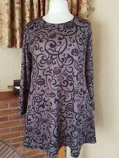 Gris Negro calabaza de Halloween vestido de Swing por Boohoo tamaño 20 18-BNWT-Diversión