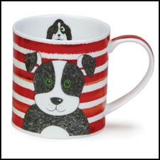 Dunoon Mugs - Orkney - Stripy Dog Red - Tea Or Coffee Mug New Gift Boxed