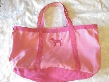 VINTAGE Victorias Secret VS PINK Duffle Tote Bag Carry On Pink dog charm large
