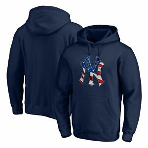 New York Yankees Fanatics Branded Banner Wave Pullover Hoodie - Navy