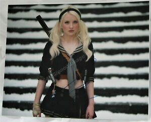 EMILY BROWNING signed - 11x14 In Person from Sucker Punch. AFTAL #199 DEALER