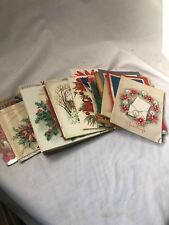 Huge Lot Vintage 1940s Christmas Cards Santa Birthday Spouses Wife 1930s 1950s