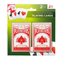2 Decks Traditional Plastic Coated Playing Cards Sealed Fun For All Adults Kids