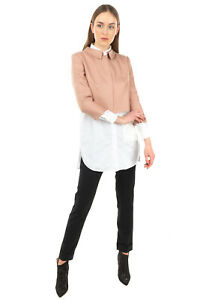 RRP €365 LES COPAINS Silk Blazer Jacket Size 40 / S 3/4 Sleeve Collared Cropped