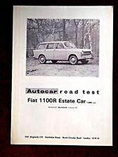 FIAT 1100R ESTATE - 1,089cc -1964 - Original AUTOCAR Road Test Leaflet