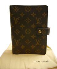 Authentic LOUIS VUITTON Agenda MM notebook cover PVC #550