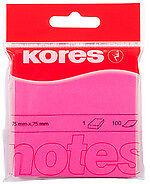 Kores Haftnotizen Neon NEONPINK blanko 75 X 75 Mm 100 Blatt Post-it Notes Zettel