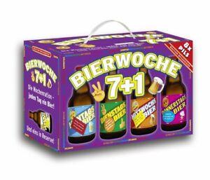 Bierwoche 7+1 Bier 8er Geschenkekarton