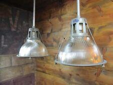 "VTG Industrial 13 1/2"" HOLOPHANE LOBAY 685 Pendant Light Old Factory Steampunk"
