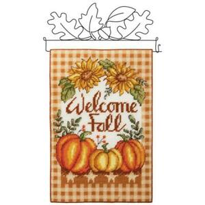 Herrschners® Welcome Fall Wall Hanging Plastic Canvas Kit