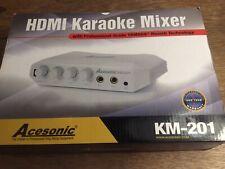 Acesonic Hdmi Karaoke Mixer W Pofessional Grade Yamaha Reverb Technology Km-201
