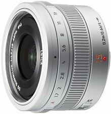 New Panasonic LEICA DG Summilux 15mm F1.7 ASPH Lens H-X015 Silver Japan Model