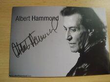 original Albert Hammond-International, Musik, Autogrammkarte