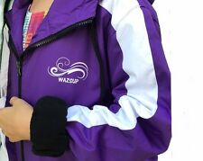 Deck Coat Wazsup Purple Large (swim Parka, swim jacket, beach wear/robe)